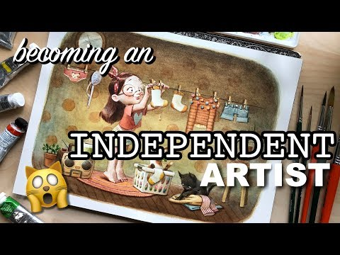 Becoming an INDEPENDENT ARTIST! 😱 Watercolour Illustration