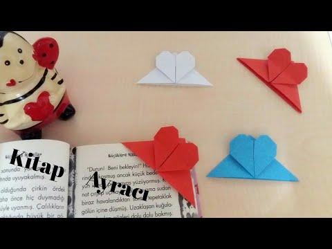 Kalp kitap ayracı, Origami kalp ayraç,kitap ayracı nasıl yapılır,