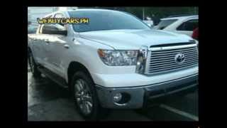 2012 Toyota Tundra Platinum Philippines Best Buy - WEBUYCARS.PH