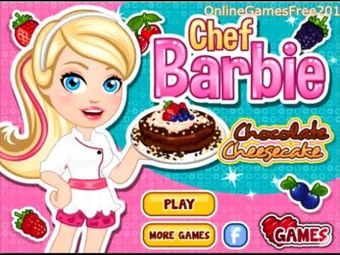 Barbie Game Barbie Chocolate Chessecake Barbie Cooking
