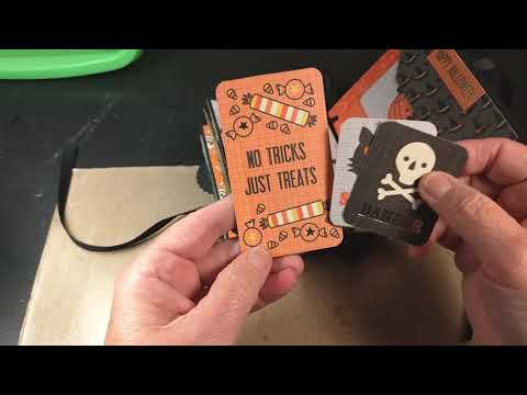Two Halloween Paper Bags Mini Albums For Sale on Ebay