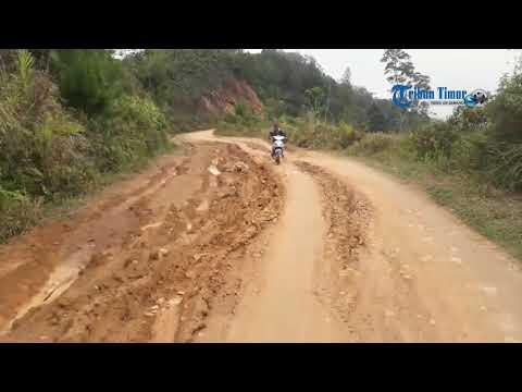 Beginilah Kondisi Jalan Menuju Bastem Utara Luwu, Berlumpur dan Rawan Longsor