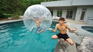 I TRAPPED MY TWIN BROTHER INSIDE A GIANT BUBBLE BALL!