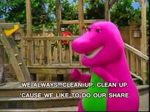 Barney  Clean Up Song