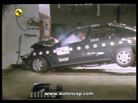 euro ncap honda civic 1998 crash test youtube. Black Bedroom Furniture Sets. Home Design Ideas