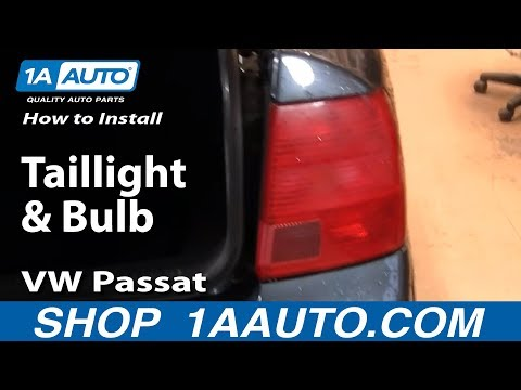 How to Replace Tail Light 98-01 Volkswagen Passat