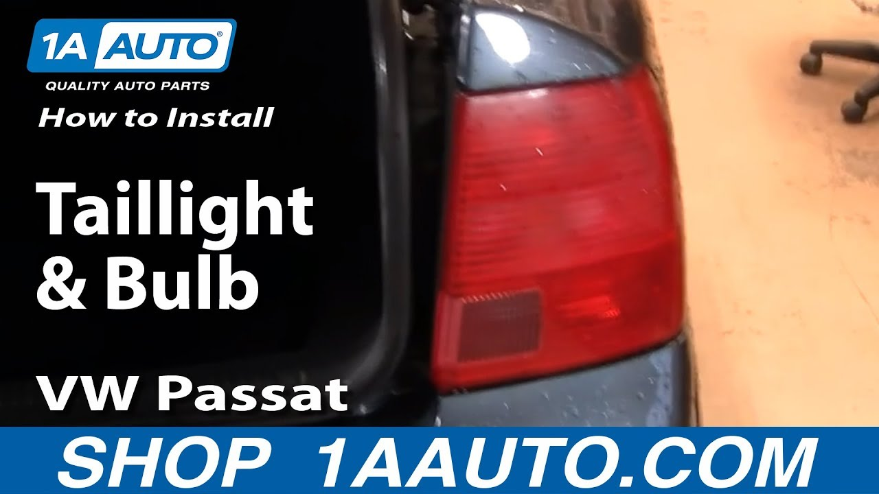 maxresdefault how to install replace taillight and bulb vw passat 98 01 1aauto Jetta Tail Light Bulb at mifinder.co