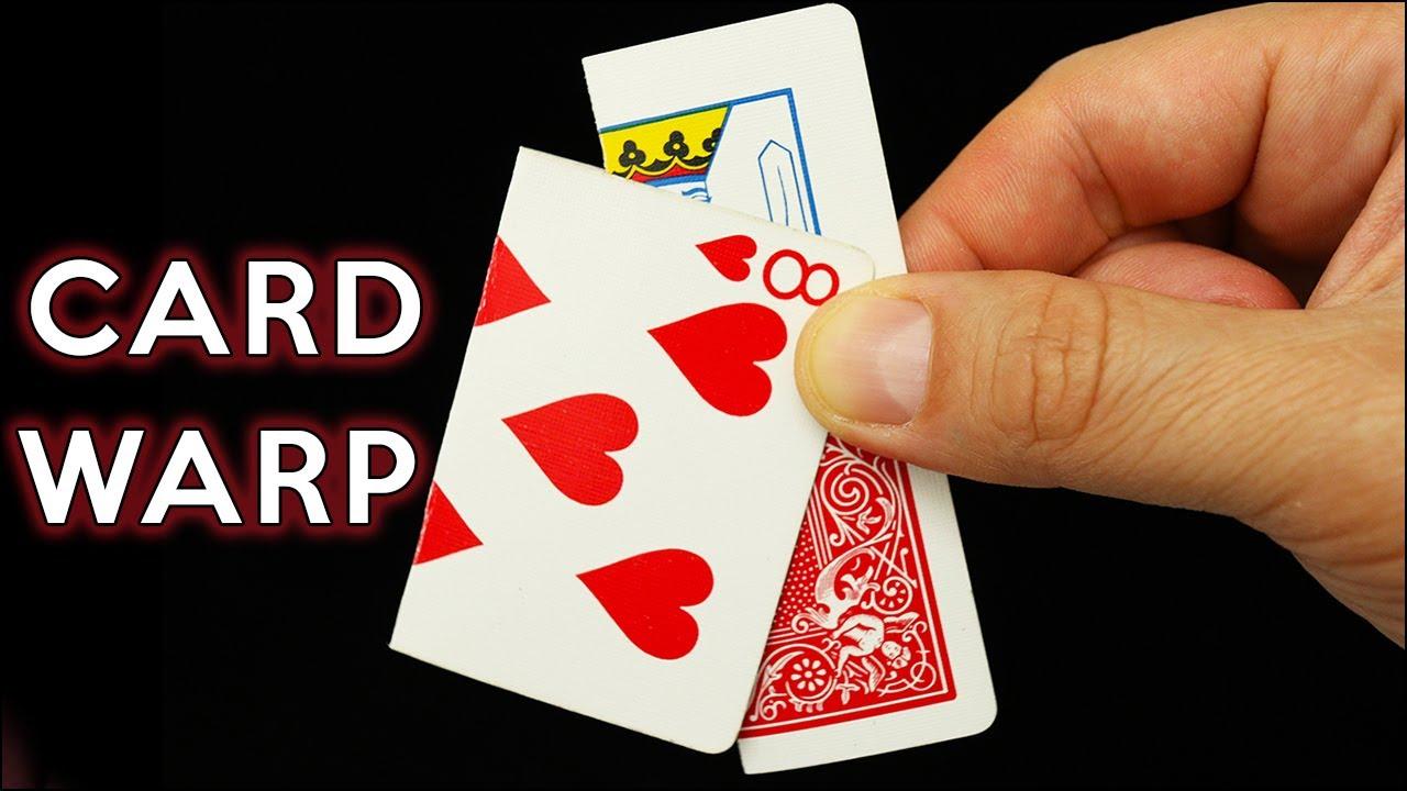 card warp magic trick super clean  youtube