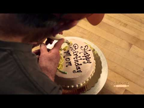 Decorating a Happy Birthday Cake