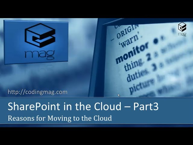 SharePoint in the Cloud (Part 3)