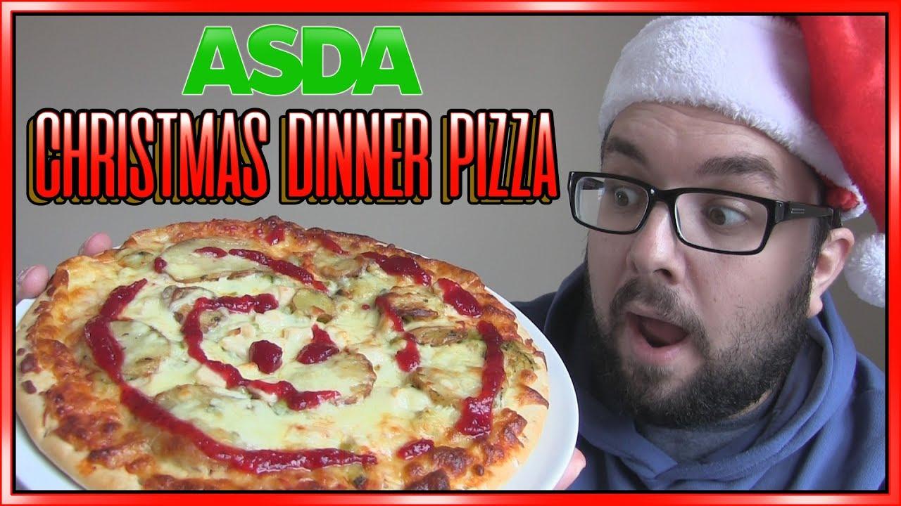 ASDA Christmas Dinner Pizza Review - YouTube