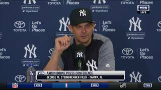 Aaron Boone opens Yankees 2018 Spring Training - FULL PRESS CONFERENCE