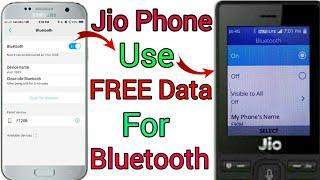 Jio phone free data kaise use kare, jio phone free internet use on Bluetooth, jio phone free data