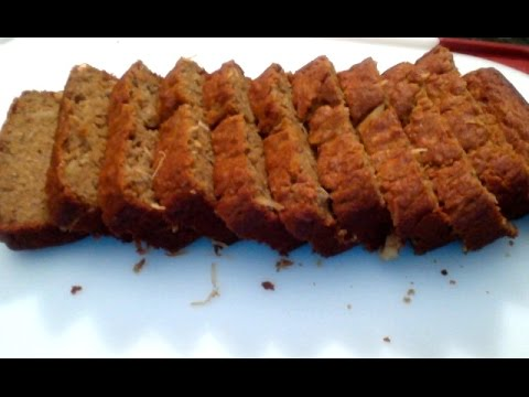 Whole Wheat Eggless and Healthy Banana Bread with Jaggery