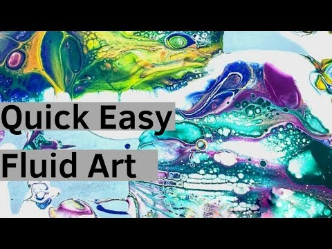 Easy Fluid Flow Pour Painting Big Cells Bright Colors Abstract Art Large