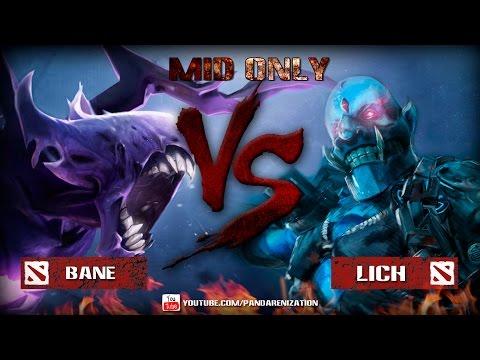 видео: bane vs lich [Битва героев mid only] dota 2