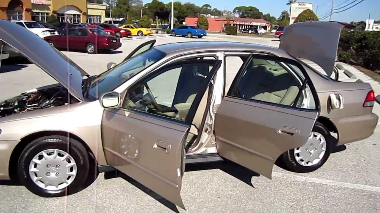 SOLD 2001 Honda Accord LX 48K Miles VTEC Manual Meticulous Motors Inc  Florida For Sale