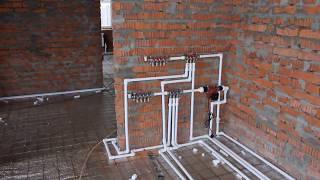 Строим загородный дом (окна, газ, отопление, теплый пол)