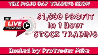 $1,000 Profit in 1 Hour 🧨 The Mojo Day Trading Show