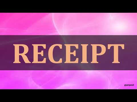 DIFFERENCE BETWEEN INVOICE AND RECEIPT