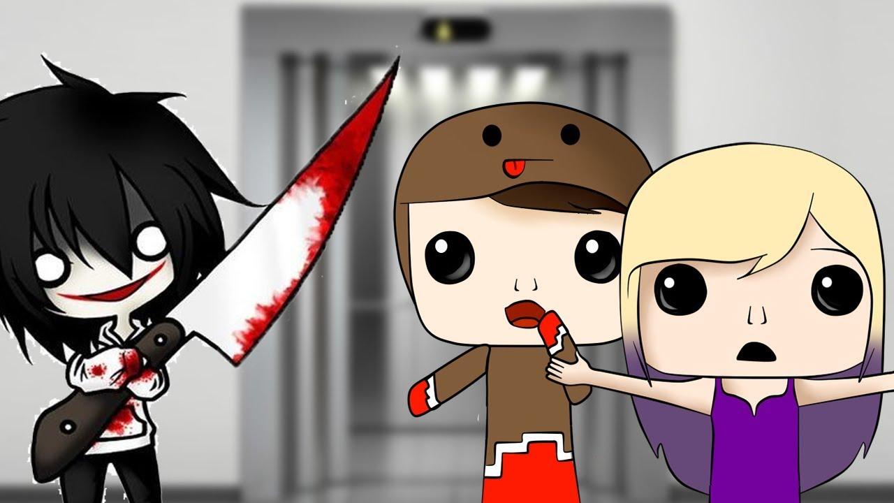 Jeff The Killer Nos Ataca A Lyna Y A Mi Juego Peligroso En - slenderman me quiere matar roblox stop it slender youtube