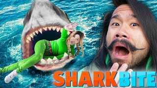 ALIE EATEN BY A SHARK - Can My New Friend Go NOOB vs PRO vs HACKER in Roblox