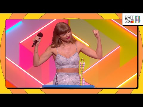 Taylor Swift wins BRITs Global Icon   The BRIT Awards 2021