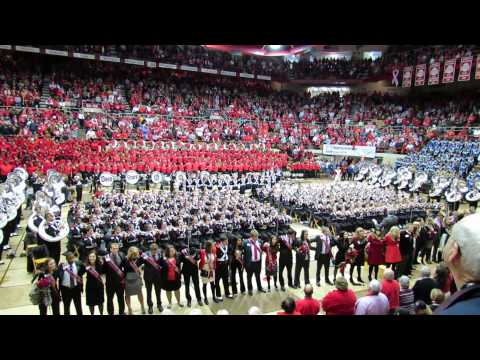 Ohio State Marching Band Plays Carmen Ohio the Alma Mater  at the Skull Session 10 19 2013 OSU vs Io
