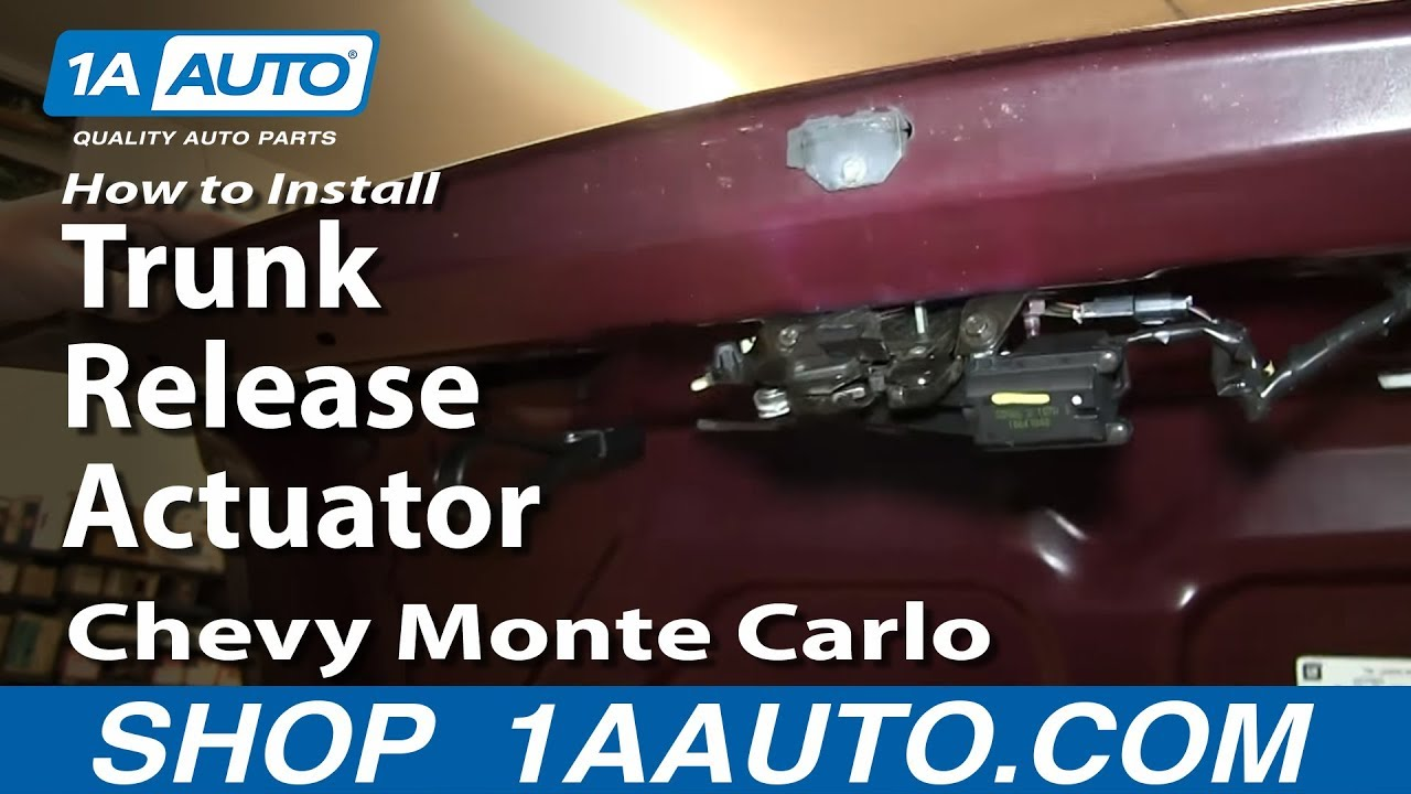how to install replace trunk release actuator 2000 07 chevy monte carlo [ 1280 x 720 Pixel ]