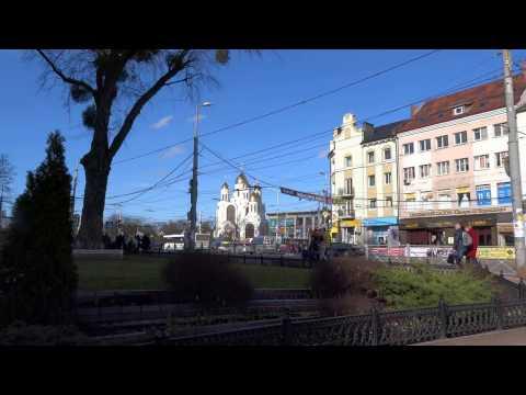 Ленинский проспект - вид на площадь Победы в Калининграде