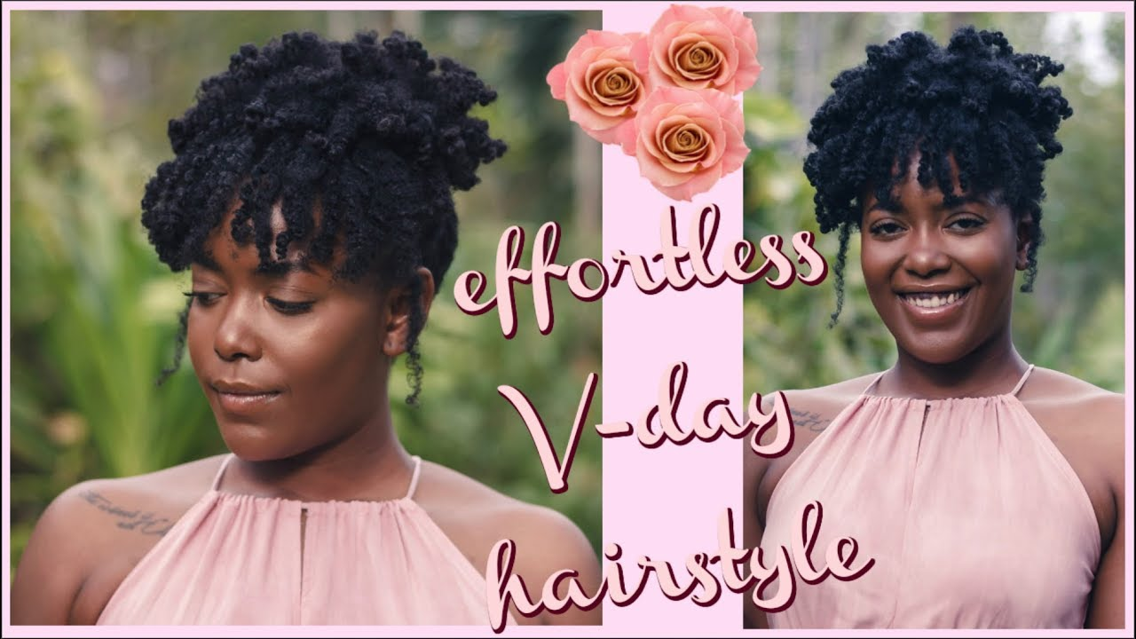 Easy Updo On 4c Hair Simple Natural Hairstyle For Black Women