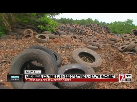 Tire recycling site violates DHEC permit by 60K in Anderson Co.