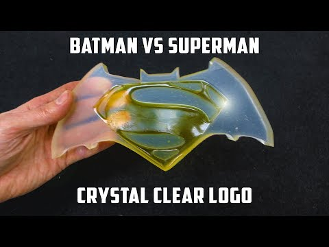 Casting Crystal Clear Batman vs Superman Logo | PressTube
