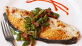 Food Wishes Recipes - Halibut With Bacon And Roma Beans - How To Make Halibut With Bacon Roma Bean Relish