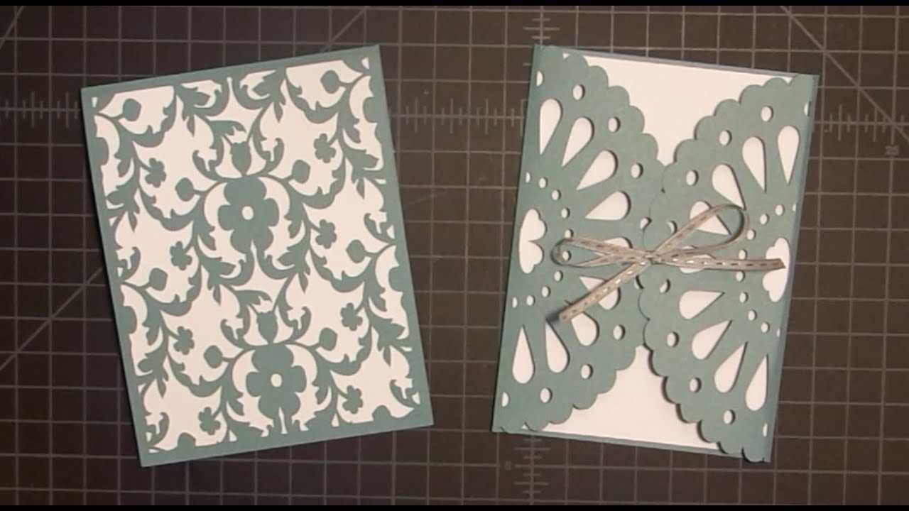 frilly doily card with cricut explore tutorial - youtube, Wedding invitations