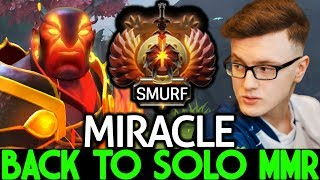 MIRACLE [Ember Spirit] Pro Player Back to Solo MMR Smurf Game 7.22 Dota 2