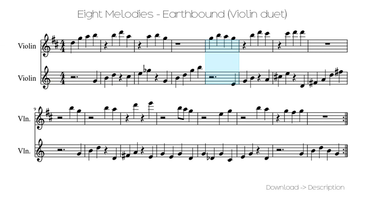 🎶 Eight Melodies - Earthbound (Violin Duet) 🎸🎸