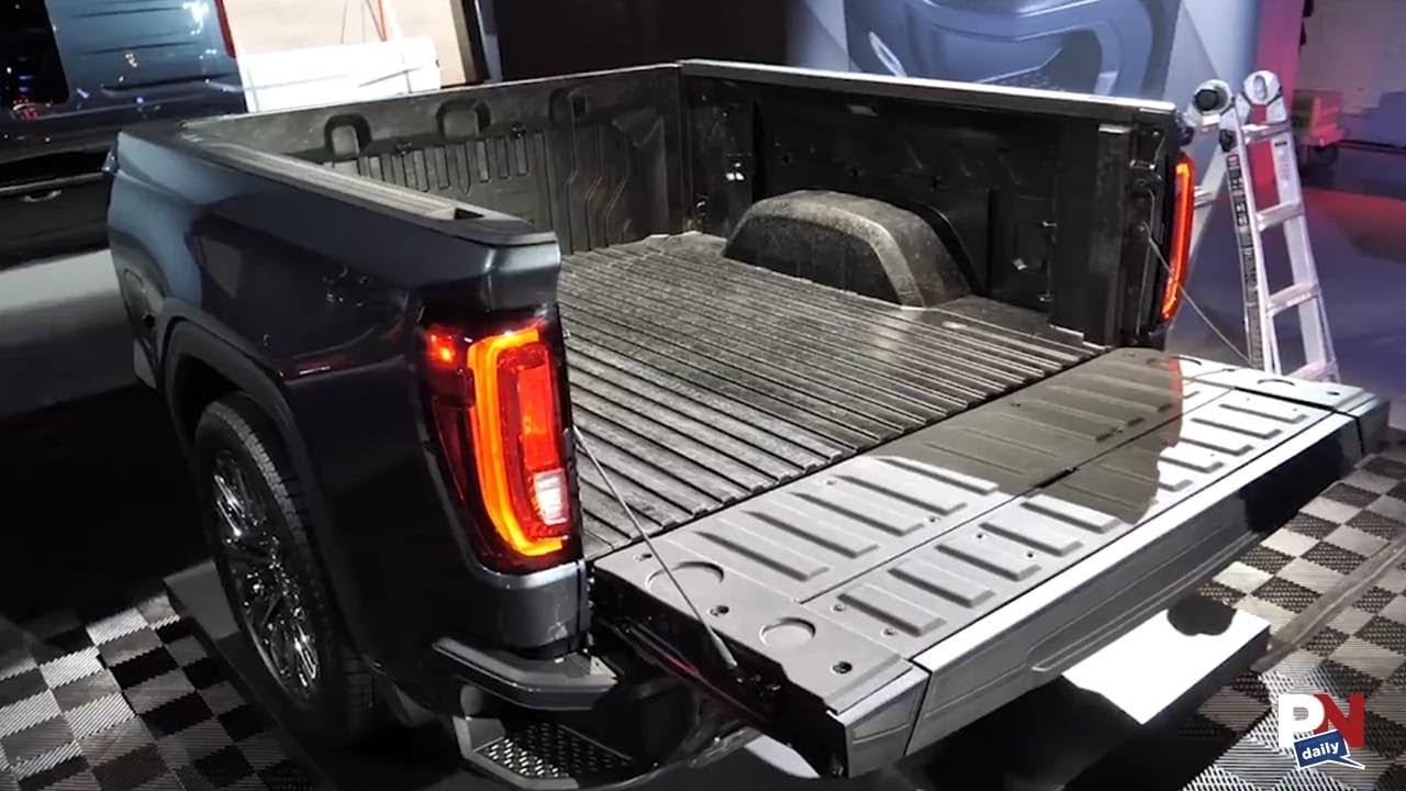 GMC Is The First To Offer A Carbon Fiber Pickup Bed - YouTube