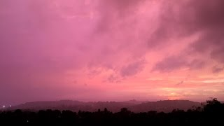 watch stunning time lapse video of storm sunset in cny