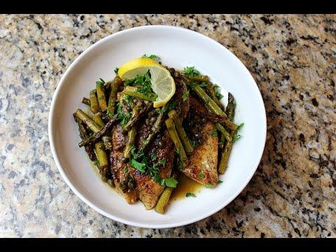 LOW CARB Chicken & Asparagus Piccata