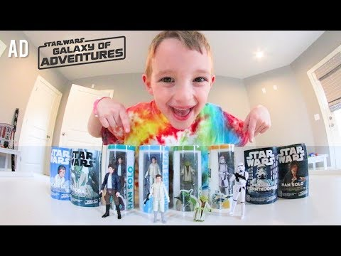 Father & Son GET ULTIMATE STAR WARS TOYS! / Star Wars: Galaxy Of Adventures Figures