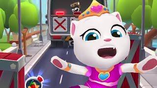 Princess Angela chases raccoon