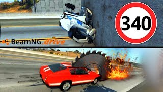 CRASH TEST 340 KM/H: Tagliare le Auto - BeamNG Drive