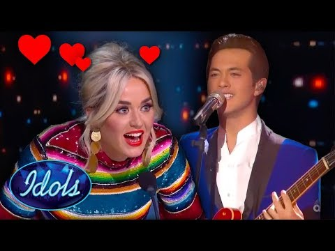 Katy Perry Has The Biggest Crush on Laine Hardy! | Idols Global