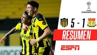 ¡PALIZA DEL MANYA EN URUGUAY! | Peñarol 5-1 Sport Huancayo | RESUMEN