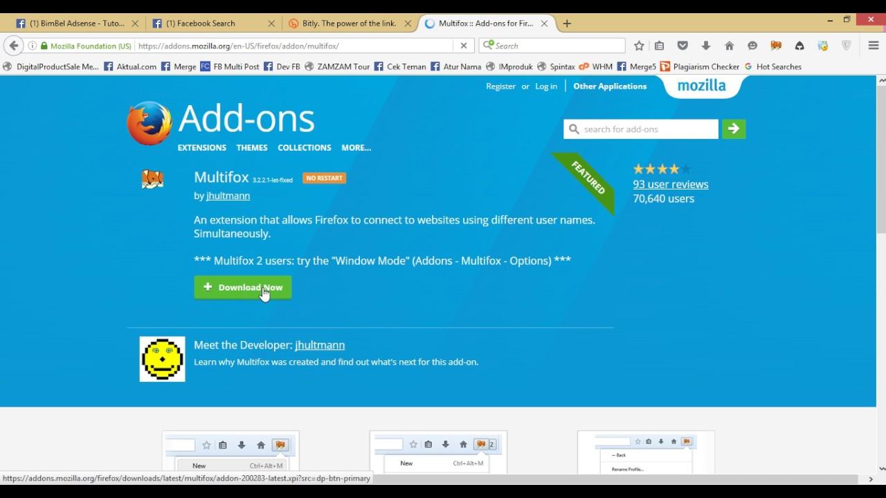 Cara Login Multi Akun Secara Bersamaan di Firefox