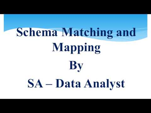 Schema matching and mapping lesson 2