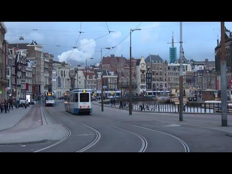 GVB BN 12G 840 & 833 Muntplein te Amsterdam | tramlijn 24 & 16