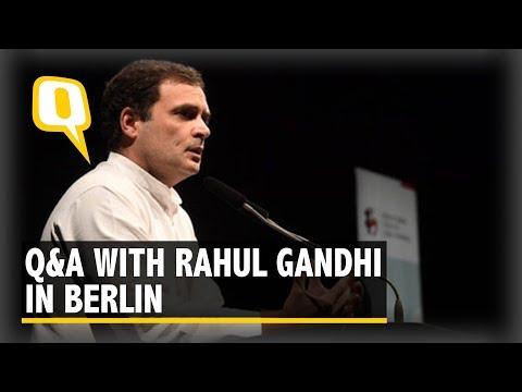 Rahul Gandhi in Berlin: Q&A on Politics, Trolls & 2019 Polls | The Quint