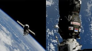 Progress MS-09 docking to the ISS